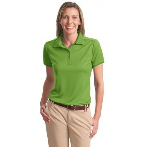 Port Authority Ladies Poly-Bamboo Charcoal Birdseye Jacquard Polo. L498