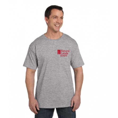 Hanes® Beefy-T® - 100% Cotton T-Shirt with Pocket With NLT Printed Logo