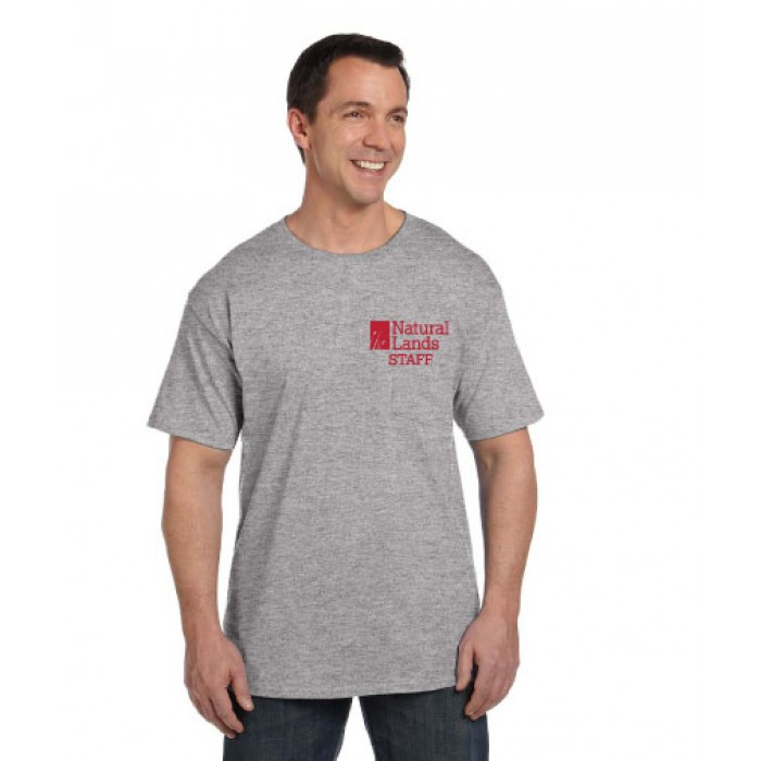fee60dd6 Hanes® Beefy-T® - 100% Cotton T-Shirt with Pocket With NLT Printed ...