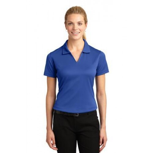 Sport-Tek Ladies Dri-Mesh V-Neck Polo.  L469