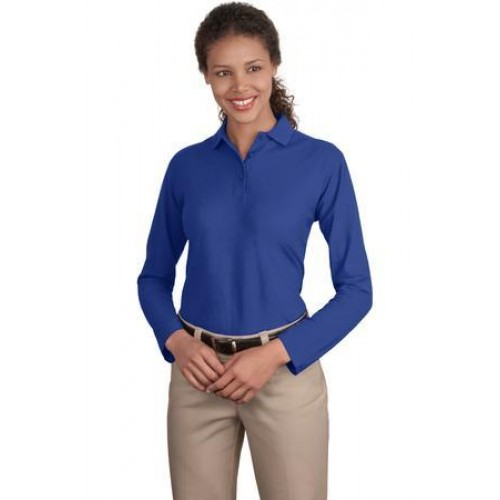 Port Authority Ladies Long Sleeve Silk Touch Polo.  L500LS